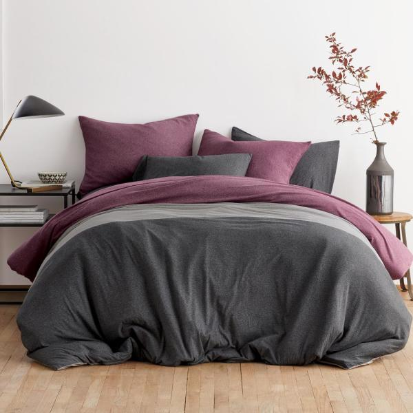 Logan Jersey Cotton Blend Twin Duvet Cover in Berry Multi