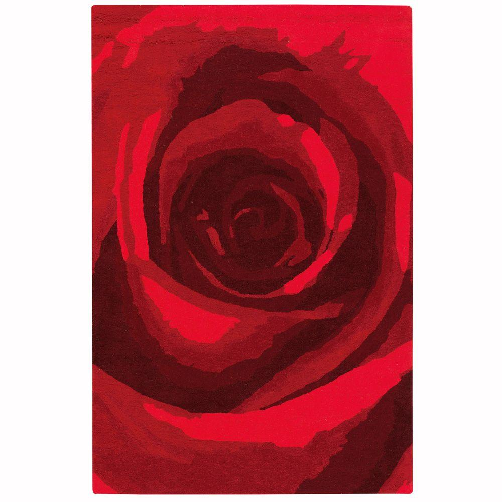 Home Decorators Collection Blossom Red 8 ft. x 11 ft. Area Rug