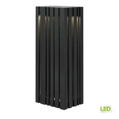 Uptown 1-Light Black Outdoor 17.7 in. Large LED Wall Light