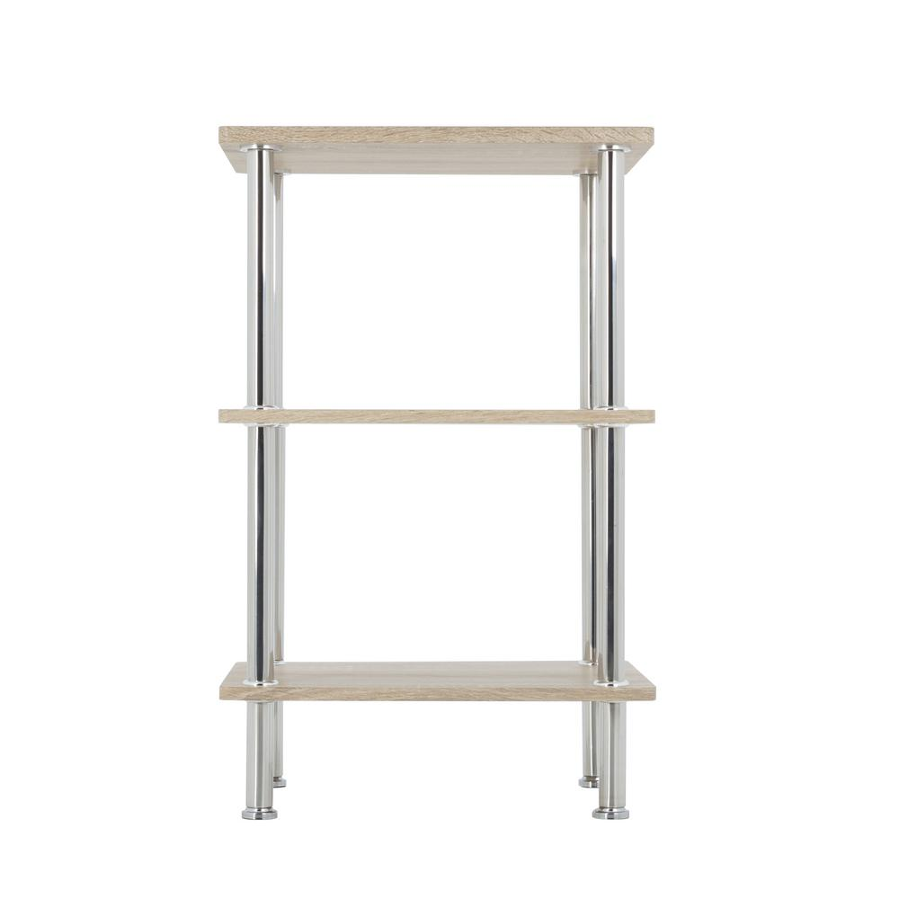 small shelving unit avf whitewashed oak and chrome small 3 tier shelving unit 26396