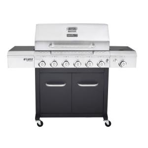 Click here to buy Nexgrill Deluxe 6-Burner Propane Gas Grill in Black with Side Burner by Nexgrill.