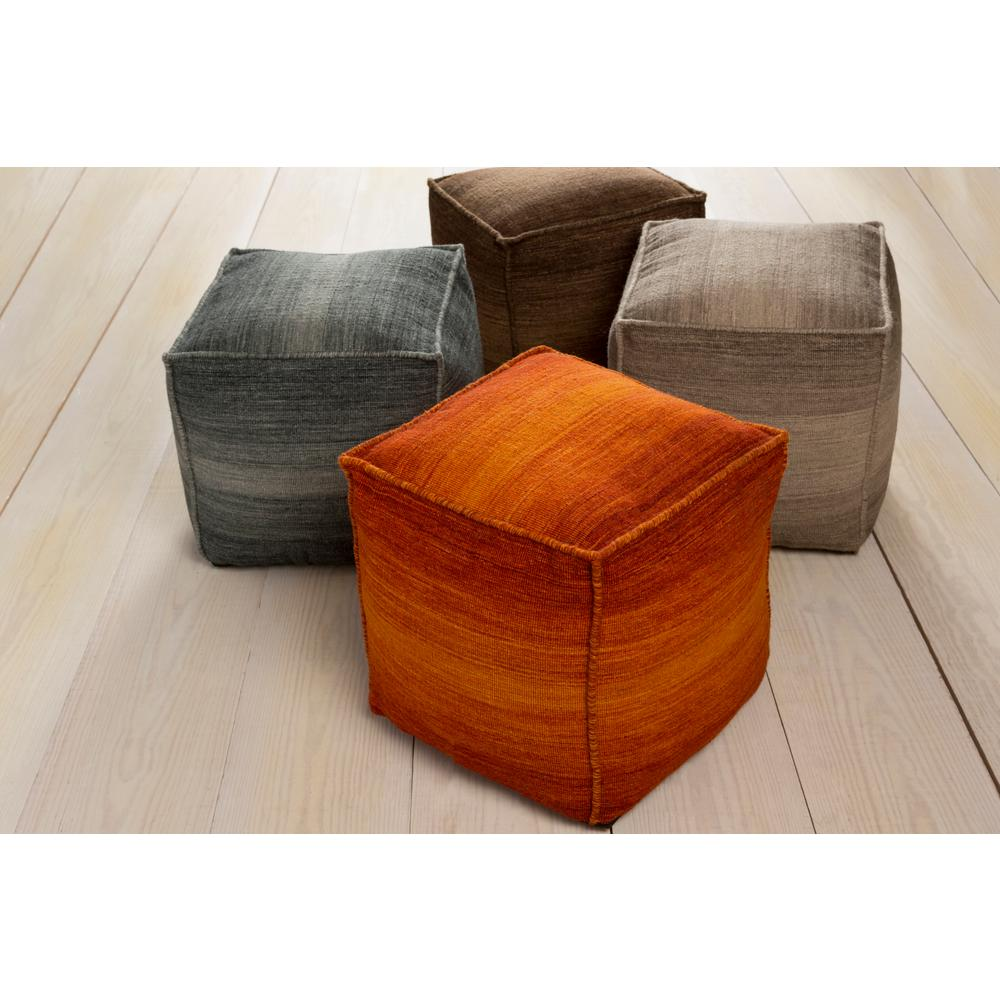 Armida Dark Brown Accent Pouf