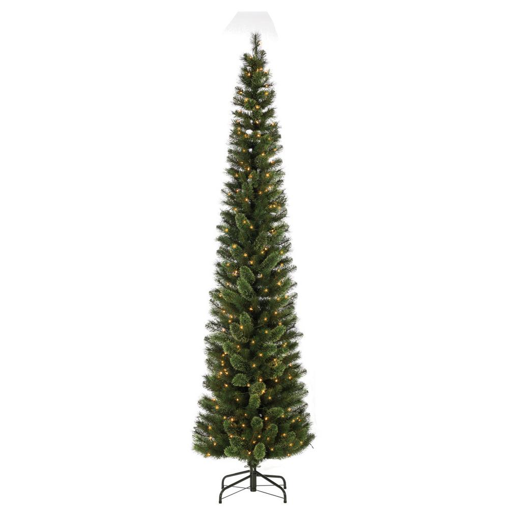 hard mixed needle cashmere pencil artificial christmas tree with 250 clear lights - Cashmere Christmas Tree