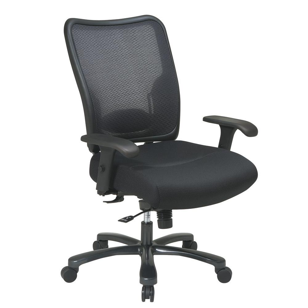 Space Seating Big and Tall Black AirGrid Back Office Chair ...
