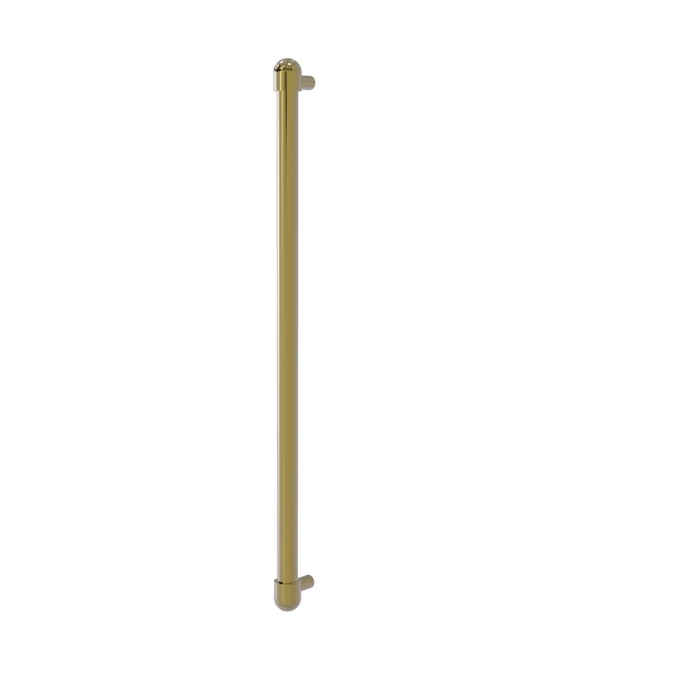 Allied Brass 18 in. Center-to-Center Refrigerator Pull in Unlacquered Brass Transform your kitchen with this elegant Refrigerator and Appliance Pull. This pull is designed for replacing the pulls or handles on your built-in refrigerator, freezer or any other built in appliance. Appliance pull is made of solid brass and provided with a lifetime finish to insure products will provide a lifetime of service.
