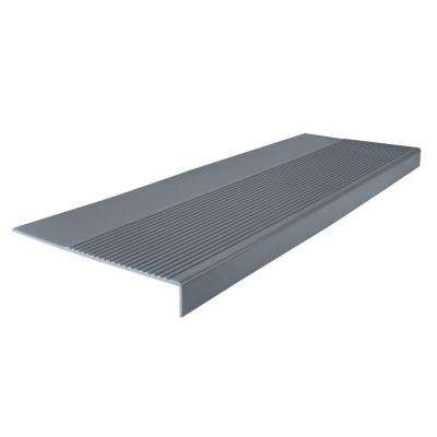 Ribbed Profile Dark Gray 12-1/4 in. x 48 in. Square Nose Stair Tread