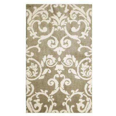 Halstead Plush Knit Taupe 2 ft. x 3 ft. Area Rug