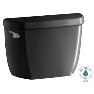 wellworth classic 128 gpf single flush toilet tank only with class five flushing technology in black