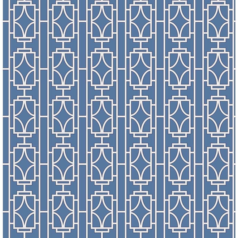 Beacon House Empire Sapphire Lattice Wallpaper 2669-21743