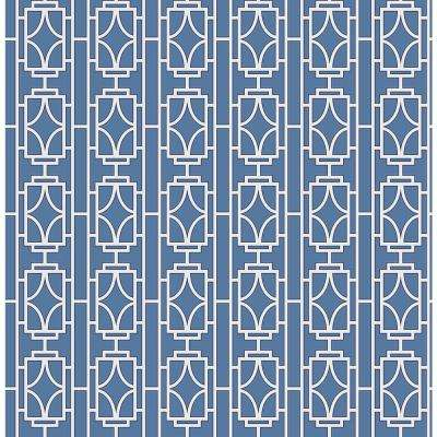 Empire Sapphire Lattice Wallpaper Sample