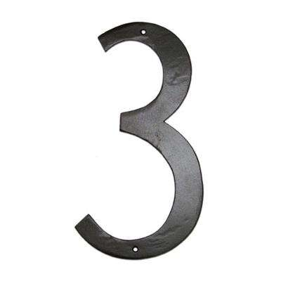 6 in. Standard House Number 3