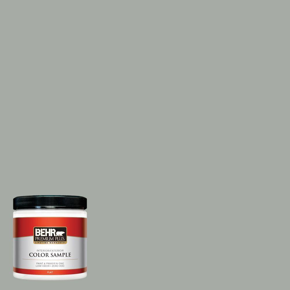 BEHR Premium Plus 8 oz. #ECC-35-1 Silver Clouds Interior/Exterior Paint Sample