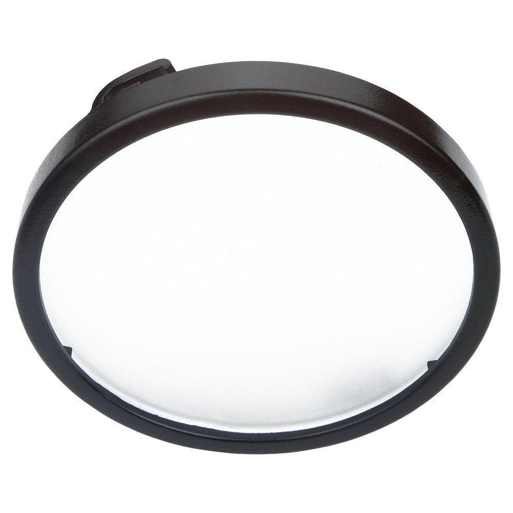 Black Recessed Disk Light Trim