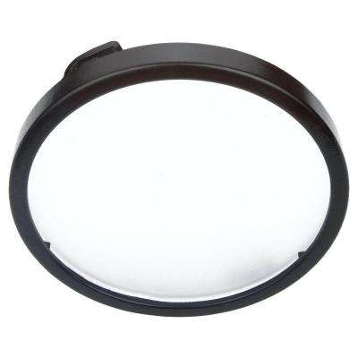 Ambiance 5 in. Black Recessed Disk Light Trim with Etched Glass Diffuser