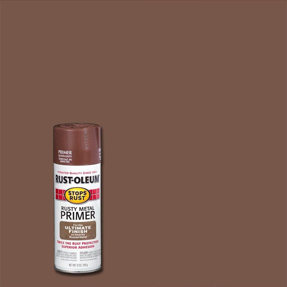 Rust-Oleum Stops Rust 12 oz. Flat Rusty Metal Primer Spray