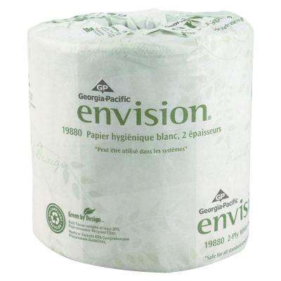 Envision White Embossed Bathroom Tissue 2-Ply (550 Sheets per Roll)