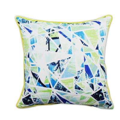 A1HC Artistic Blue/Green Feather Filled 20 in. Decorative Pillow