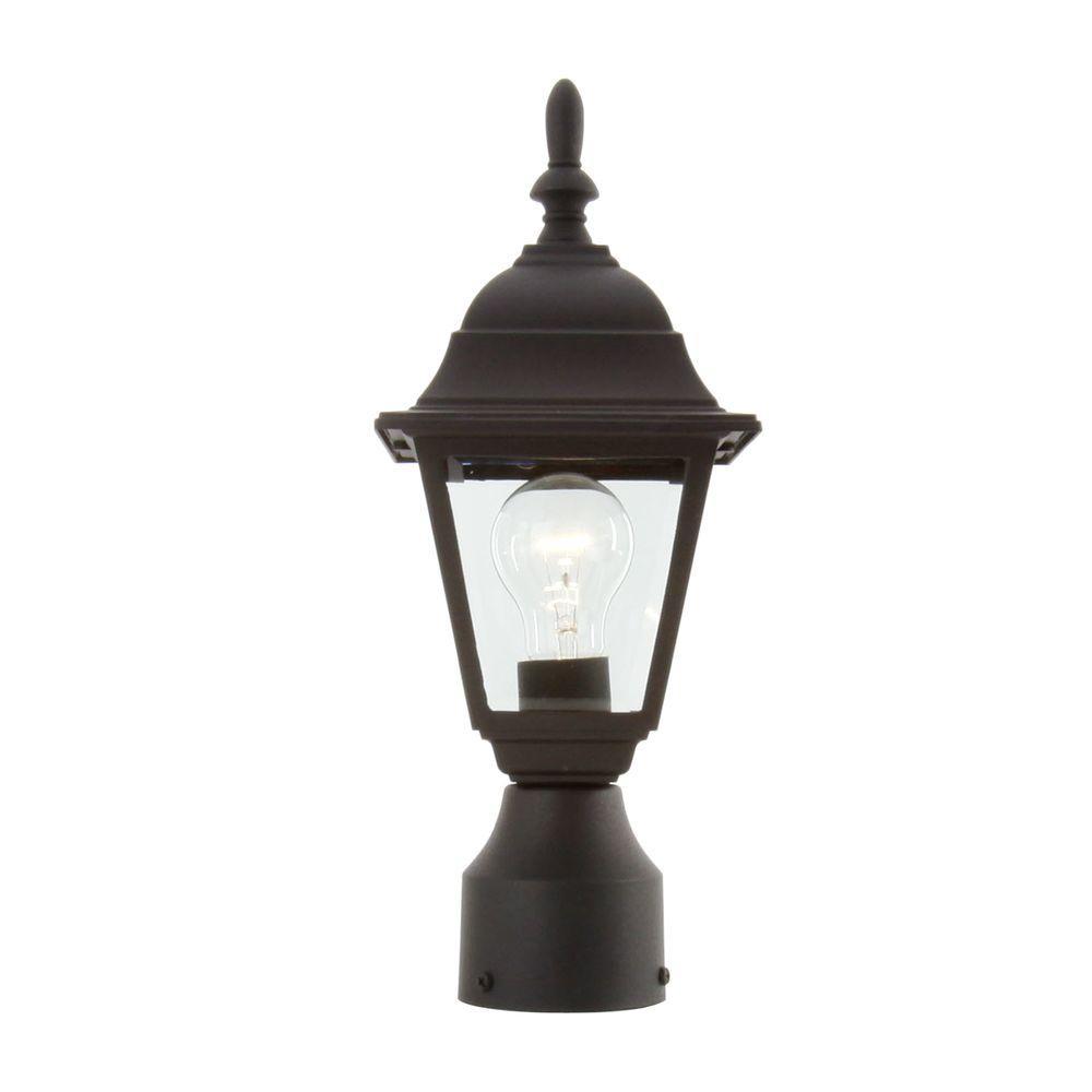 1-Light Black Outdoor Lamp