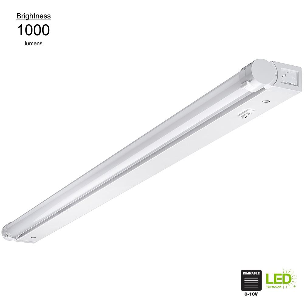 Linkable Led Under Cabinet Strip Light With Dim To Warm Feature Direct Wire Or Plug In