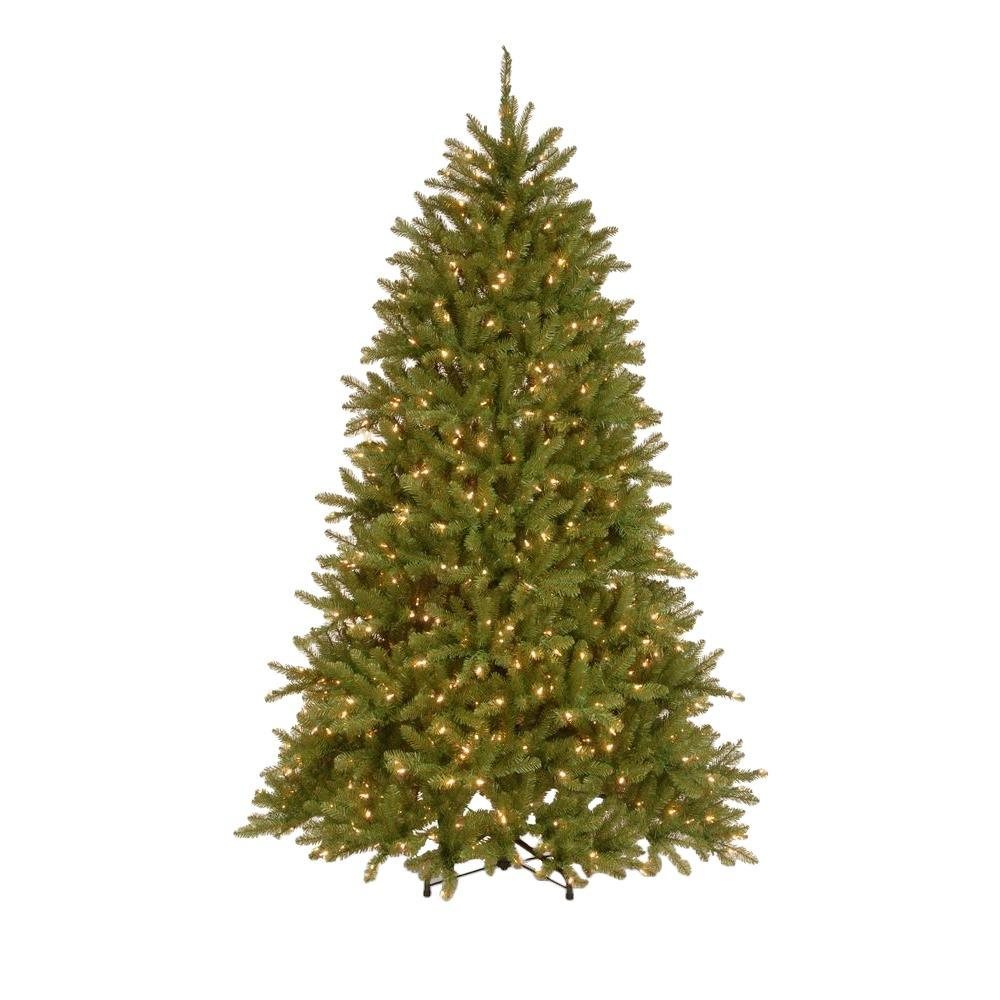 National Tree Company 7.5 ft. Pre-Lit Dunhill Fir Hinged ...