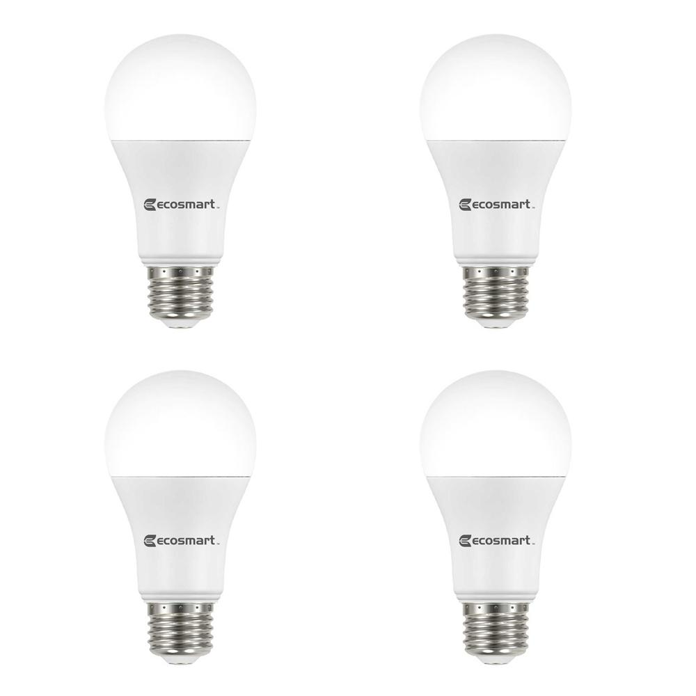 Ecosmart 100 Watt Equivalent A19 Non Dimmable Led Light Bulb Soft White 4