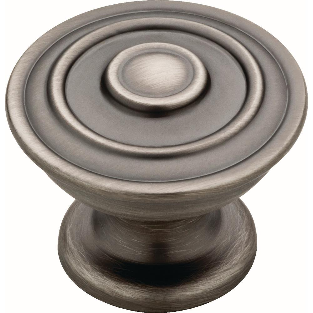 Essentials Hayes 1-1/4 in. (32 mm) Heirloom Silver Cabinet Knob