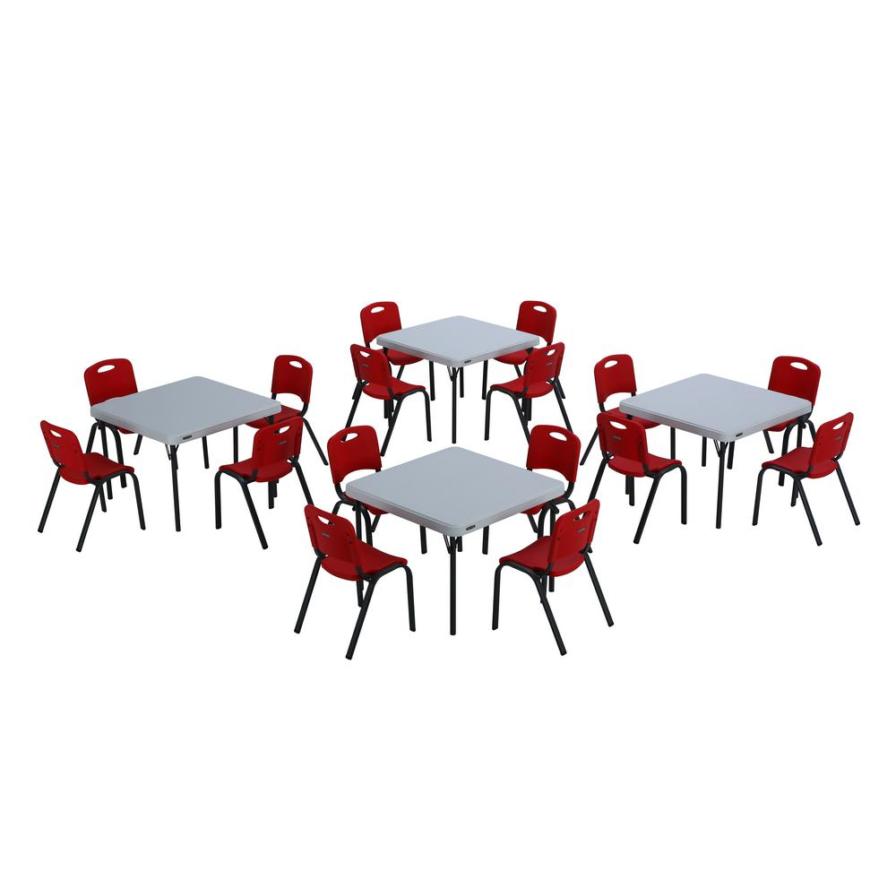 20 Piece Red And White Childrenu0027s Table And Chair Set