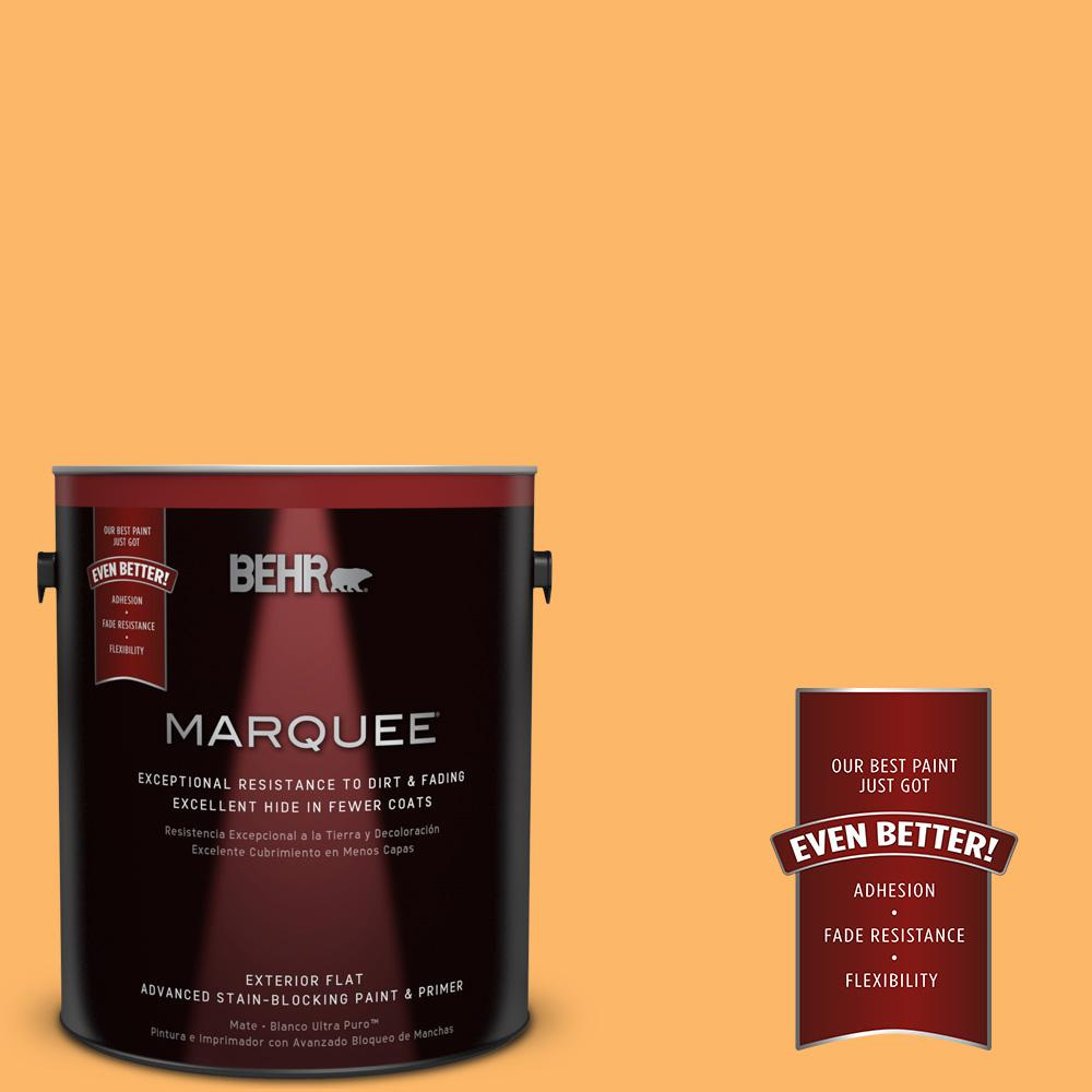 BEHR MARQUEE 1-gal. #HDC-SM14-11 Yellow Polka Dot Flat Exterior Paint