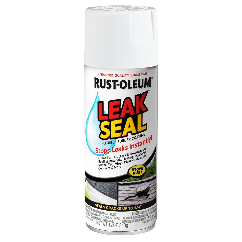 12 oz. LeakSeal White Flexible Rubber Coating Spray Paint (6-Pack)