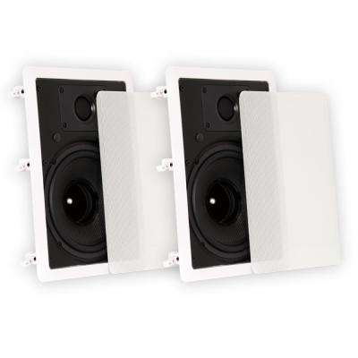 In-Wall 8 in. Speakers Home Theater Surround Sound Pair