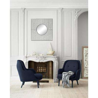 wall mirrors living room. Zenith Framed Wall Mirror Square  Metal Mirrors Decor The Home Depot