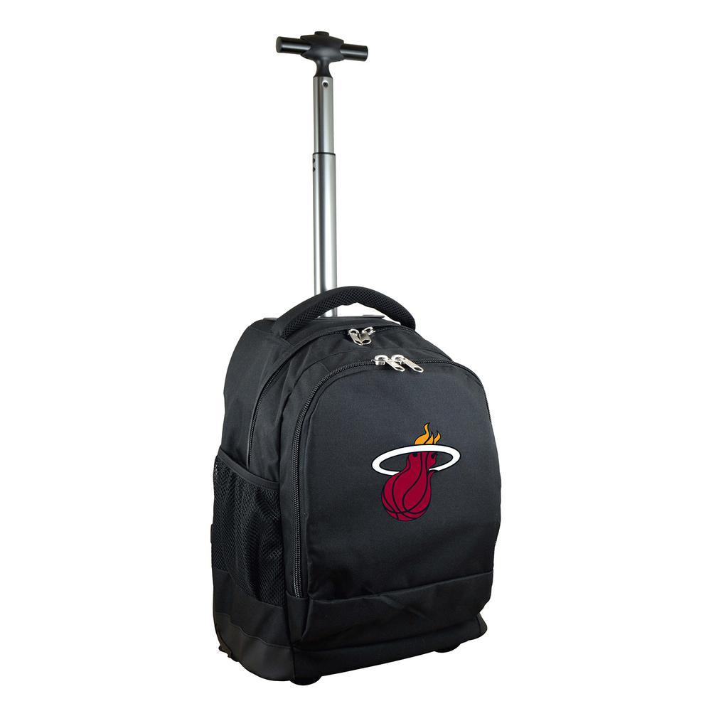NBA Miami Heat 19 in. Black Wheeled Premium Backpack