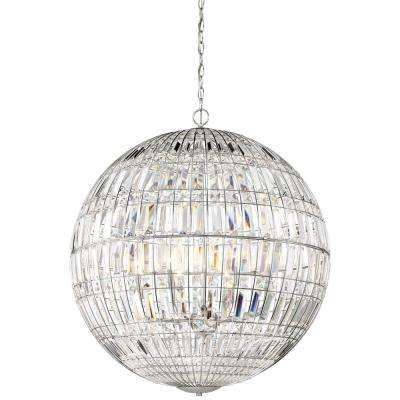 Palermo 8-Light Chrome Pendant