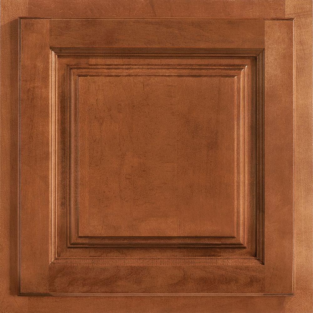 American Woodmark 13x12 7 8 In Cabinet Door Sample In Newport Maple Cognac 99887 The Home Depot