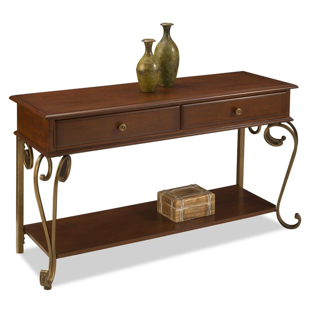 Home Styles St. Ives Console Table Cinnamon Cherry Finish-DISCONTINUED