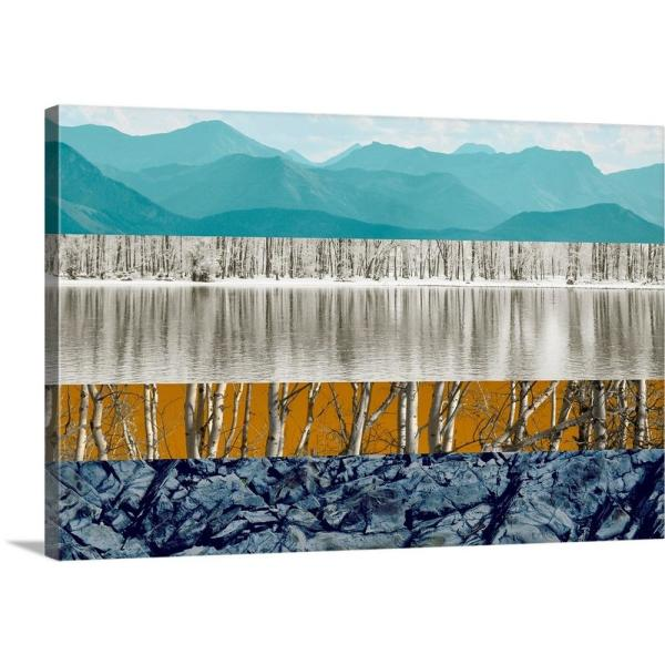 GreatBigCanvas 36 in. x 24 in. ''Nature Collage II'' by PI