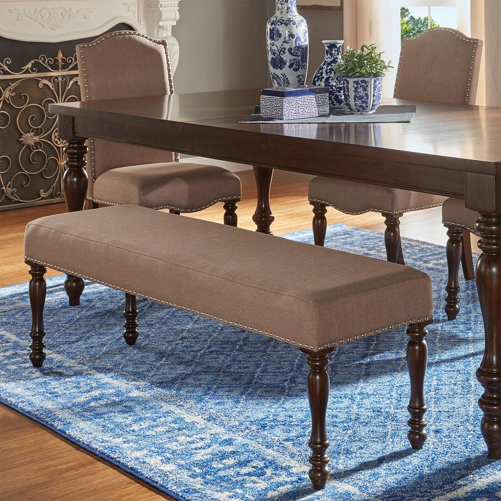 HomeSullivan Madison Sand Beige Baluster Leg Bench