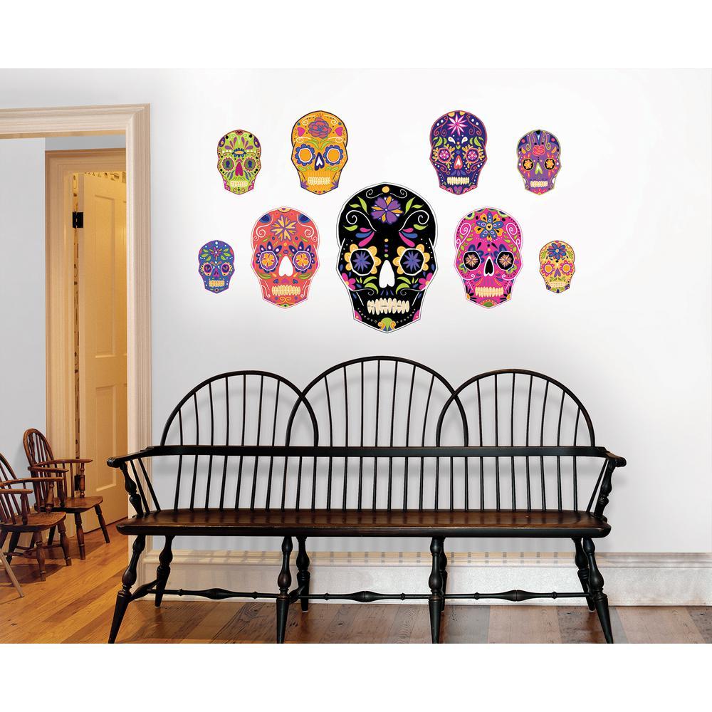 39 in  x 34 5 in  Skulls Large Wall Art Kit