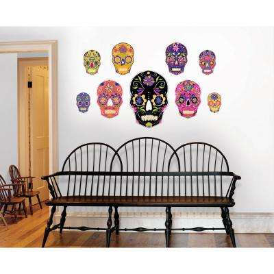 39 in. x 34.5 in. Skulls Large Wall Art Kit