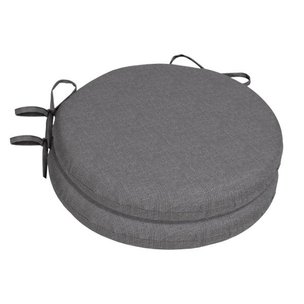 15 x 15 Sunbrella Cast Slate Round Outdoor Chair Cushion (2-Pack)