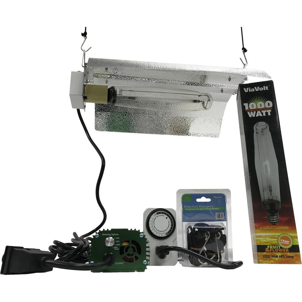 1000 Watt Electronic Hps Mh 120 240 Bat Wing Grow Light System Remote Ballast