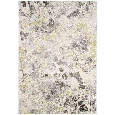 Watercolor Ivory Gray 4 Ft X 6 Area Rug