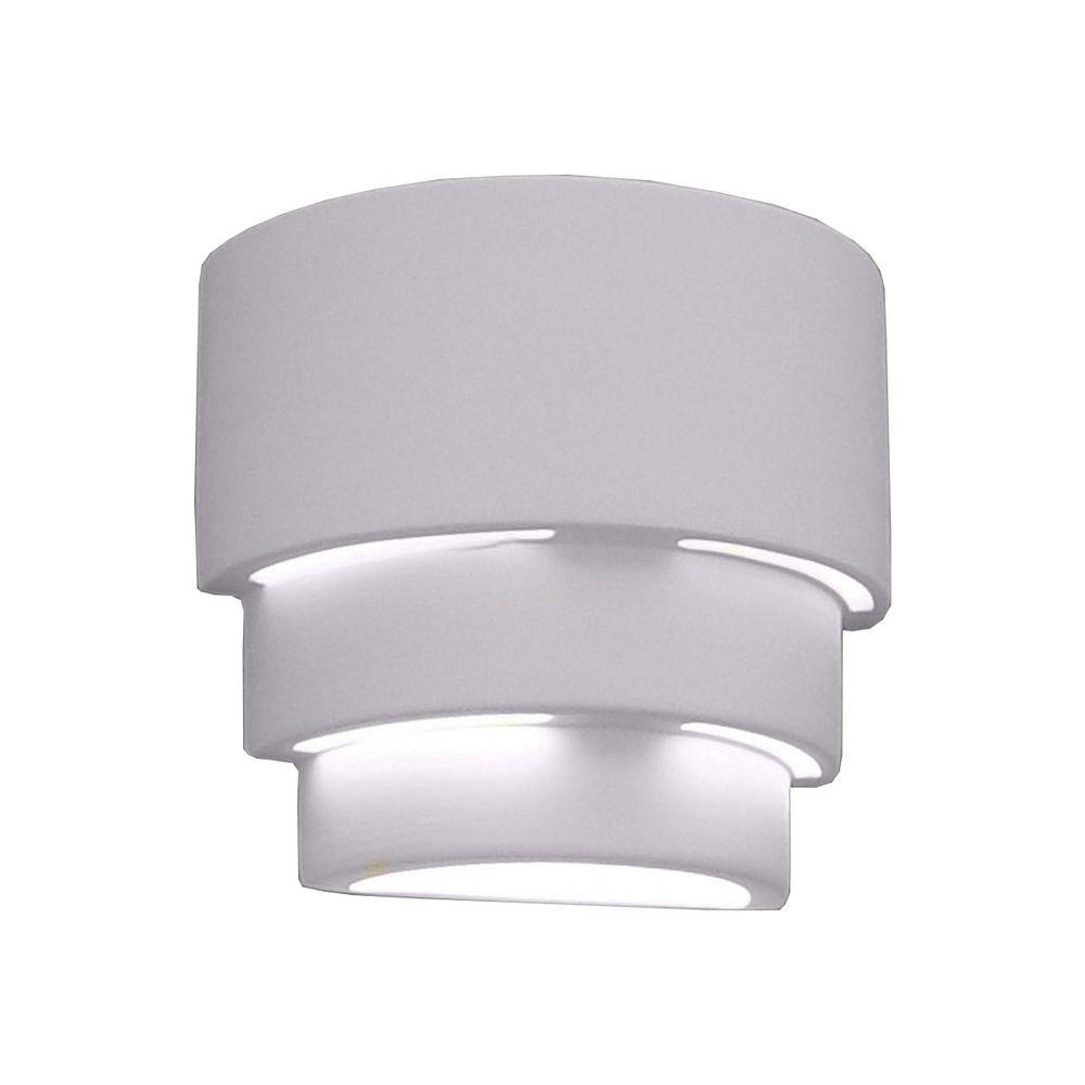 Clifton 1-Light Outdoor Bisque Grey Ceramic Wall Sconce