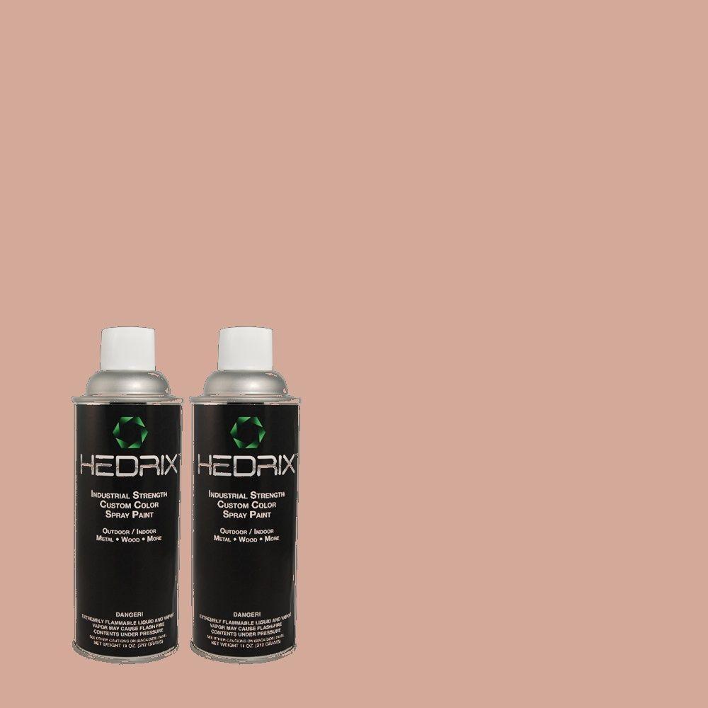 Hedrix 11 oz. Match of 160E-3 Rose Potpourri Flat Custom Spray Paint (2-Pack)