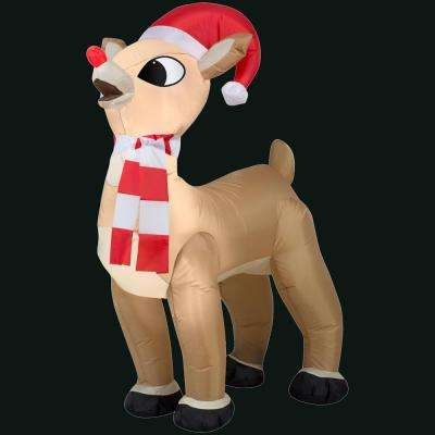 31.5 in. L x 19.68 in. W x 42.13 in. H Inflatable Standing Rudolph