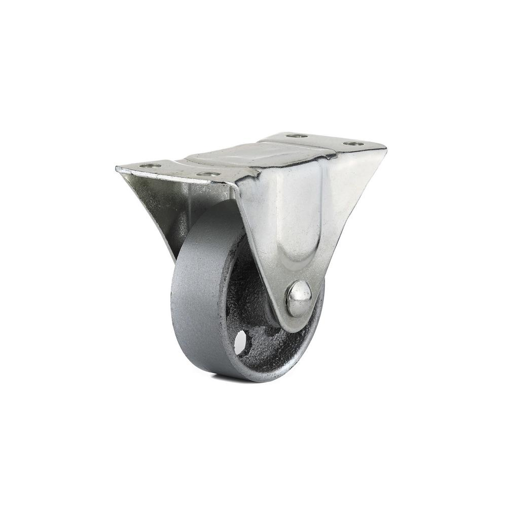 Richelieu Hardware 3 in. Metal Fixed plate Caster, 209.5 lb. Load Rating