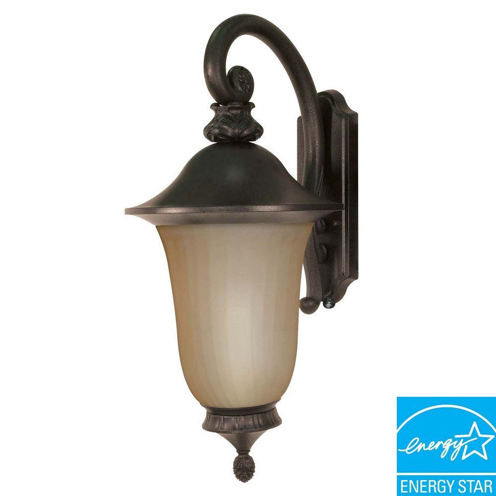 Green Matters Wall Mount Old Penny Bronze Outdoor Lantern