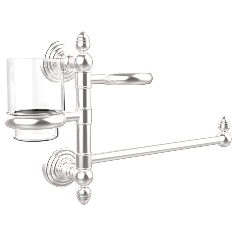 Allied Brass Waverly Place Collection Hair Dryer Holder and Organizer in Satin Chrome