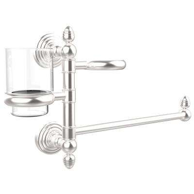 Waverly Place Collection Hair Dryer Holder and Organizer in Satin Chrome