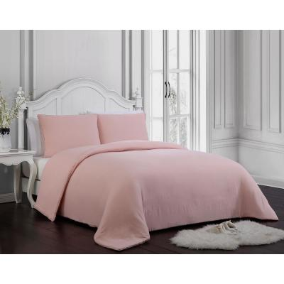 Gweneth Enzyme Washed Solid Blush Twin Comforter Set
